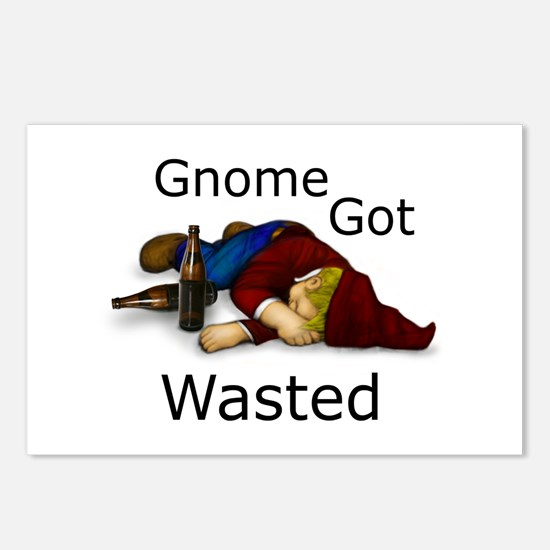 Gnome Got Wasted Postcards (Package of 8)