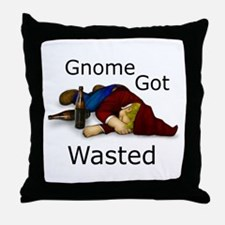Gnome Got Wasted Throw Pillow