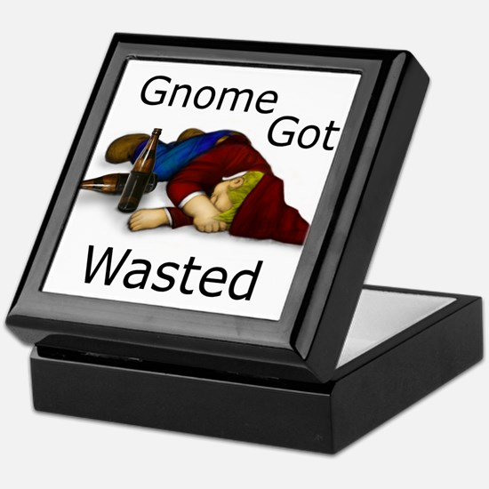 Gnome Got Wasted Keepsake Box