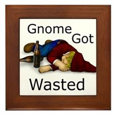 Gnome Got Wasted Framed Tile