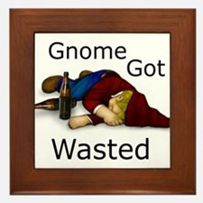 Gnome Got Wasted Framed Tile