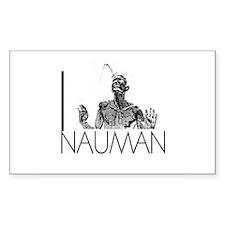 I Love Nauman Rectangle Decal