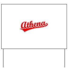 Retro Athena (Red) Yard Sign