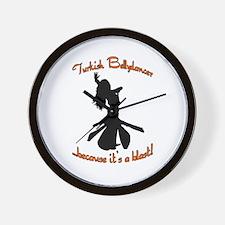 Turkish Bellydancer Orange Wall Clock