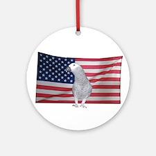Ellie Mae The Patriotic Parrot Ornament (Round)