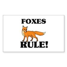 Foxes Rule! Rectangle Decal