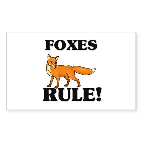 Foxes Rule! Rectangle Sticker