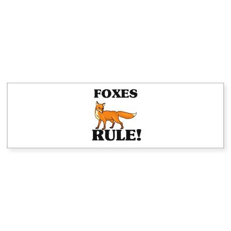 Foxes Rule! Bumper Sticker