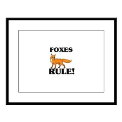 Foxes Rule! Large Framed Print