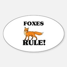 Foxes Rule! Oval Decal