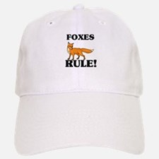 Foxes Rule! Baseball Baseball Cap