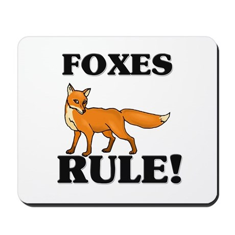 Foxes Rule! Mousepad