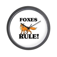 Foxes Rule! Wall Clock