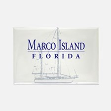 Marco Island Sailboat - Rectangle Magnet