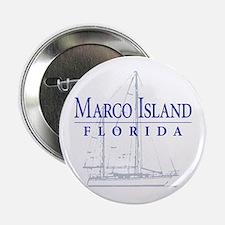 "Marco Island Sailboat - 2.25"" Button"
