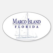 Marco Island Sailboat - Oval Decal