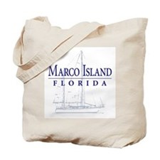 Marco Island Sailboat - Tote or Beach Bag