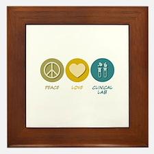 Peace Love Clinical Lab Framed Tile