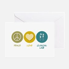 Peace Love Clinical Lab Greeting Card