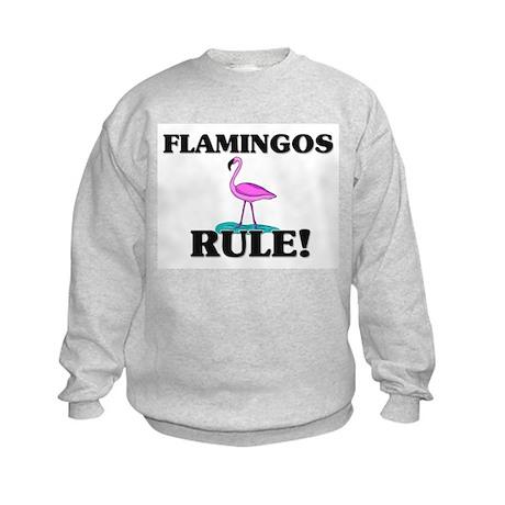 Flamingos Rule! Kids Sweatshirt