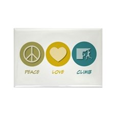 Peace Love Climb Rectangle Magnet