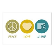 Peace Love Climb Postcards (Package of 8)
