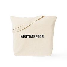 Southampton Faded (Black) Tote Bag