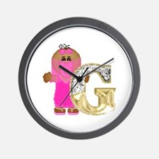 Baby Initials - G Wall Clock