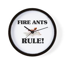 Fire Ants Rule! Wall Clock