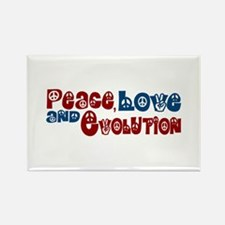 Peace, Love and Evolution Rectangle Magnet