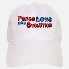 Peace, Love and Evolution Baseball Baseball Cap