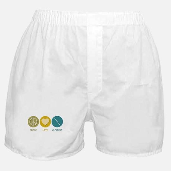 Peace Love Clarinet Boxer Shorts