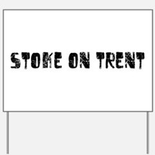 Stoke-on-Trent Faded (Black) Yard Sign