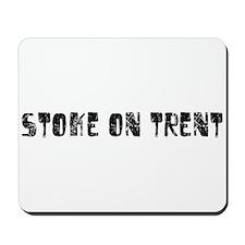 Stoke-on-Trent Faded (Black) Mousepad