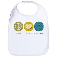 Peace Love Civil War Reenactment Bib
