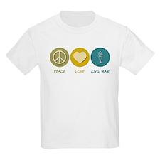 Peace Love Civil War Reenactment T-Shirt