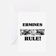 Ermines Rule! Greeting Cards (Pk of 10)