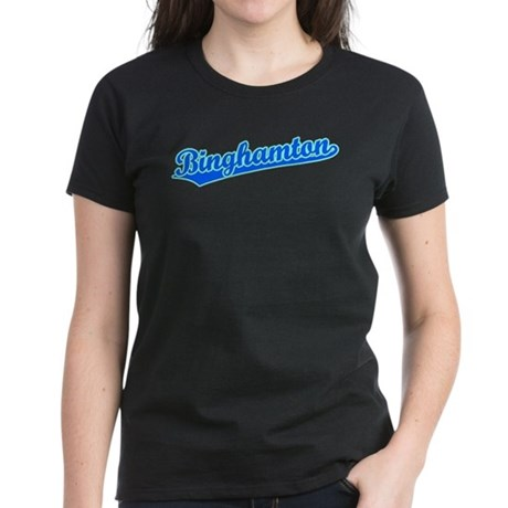 Retro Binghamton (Blue) Women's Dark T-Shirt