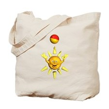 Sun and Beach Ball Tote Bag