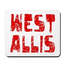 West Allis Faded (Red) Mousepad