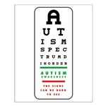 Autism Eye Chart Small Poster