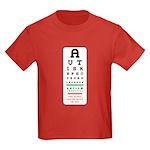 Autism Eye Chart Kids Dark T-Shirt