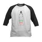 Autism Eye Chart Kids Baseball Jersey