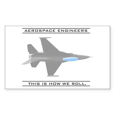 Aero Engineers: How We Roll Rectangle Sticker