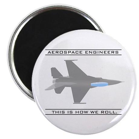 "Aero Engineers: How We Roll 2.25"" Magnet (100"