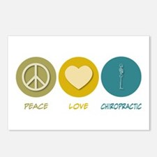 Peace Love Chiropractic Postcards (Package of 8)