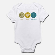 Peace Love Chiropractic Infant Bodysuit