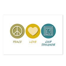 Peace Love Chip Designer Postcards (Package of 8)