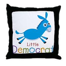 Little Democrat Throw Pillow