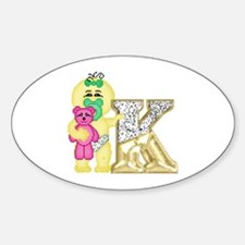 Baby Initials - K Oval Decal